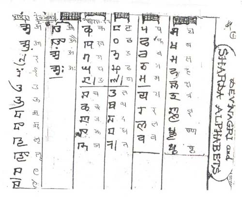 sharda-script