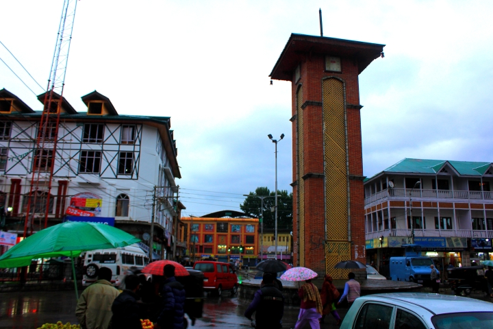 The famed clock tower of Srinagar.
